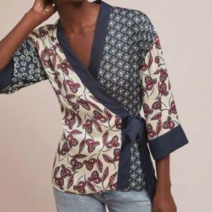 Meadow Rue Anthropologie Patchwork Kimono Wrap XS
